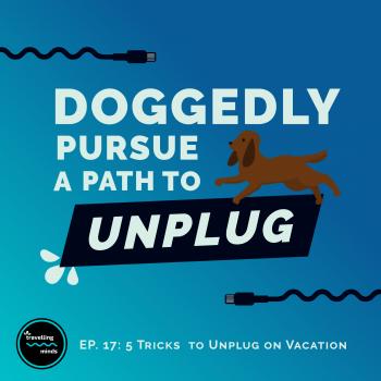 Dog, unplug from technology