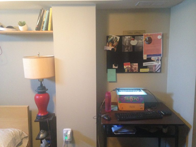 """The """"office"""" side of our guest bedroom!"""